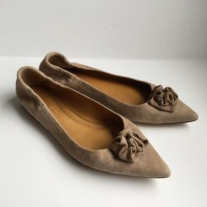 Pomme D'Or US 8.5 Suede Soft Flats Italian ballet